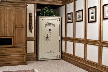 national security gun safe traditional family room raleigh rh pinterest com
