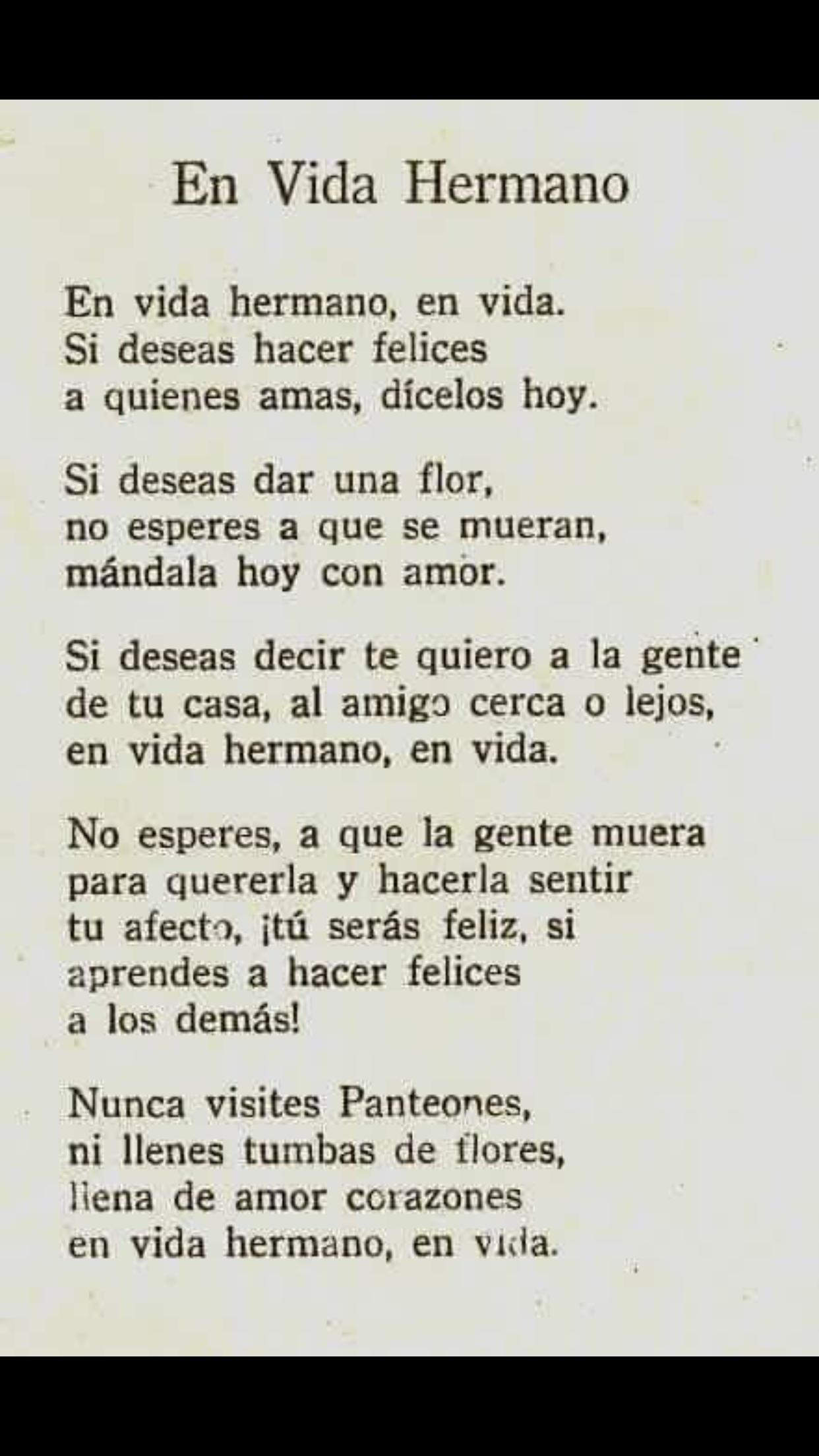 Poema En Vida Hermano Www Imagenesmy Com