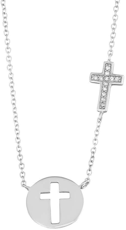 Collection sterling silver cubic zirconia cross pendant journee collection sterling silver cubic zirconia cross pendant aloadofball Image collections