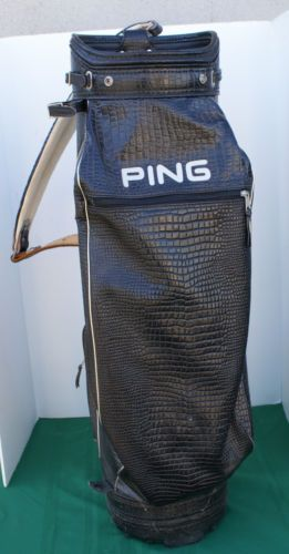 Ping Leather Faux Crocodile Cart Bag