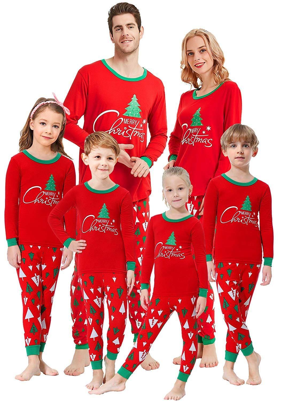 32c280a0510b Matching Family Pajamas Christmas Tree Boys Girls Pyjamas Gift PJs ...