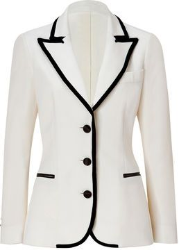 27fd17a011ab Moschino C&C Wool Blazer with Velvet Trim on shopstyle.com | My ...