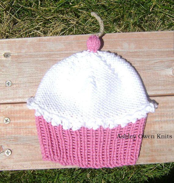 Knit Baby Cupcake Hat. | Ashley Owen Knits | Pinterest | Tejidos y Bebe