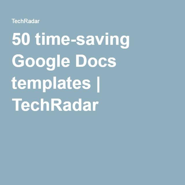 50 time-saving Google Docs templates Google docs, Template and Nifty - spreadsheet templates google docs