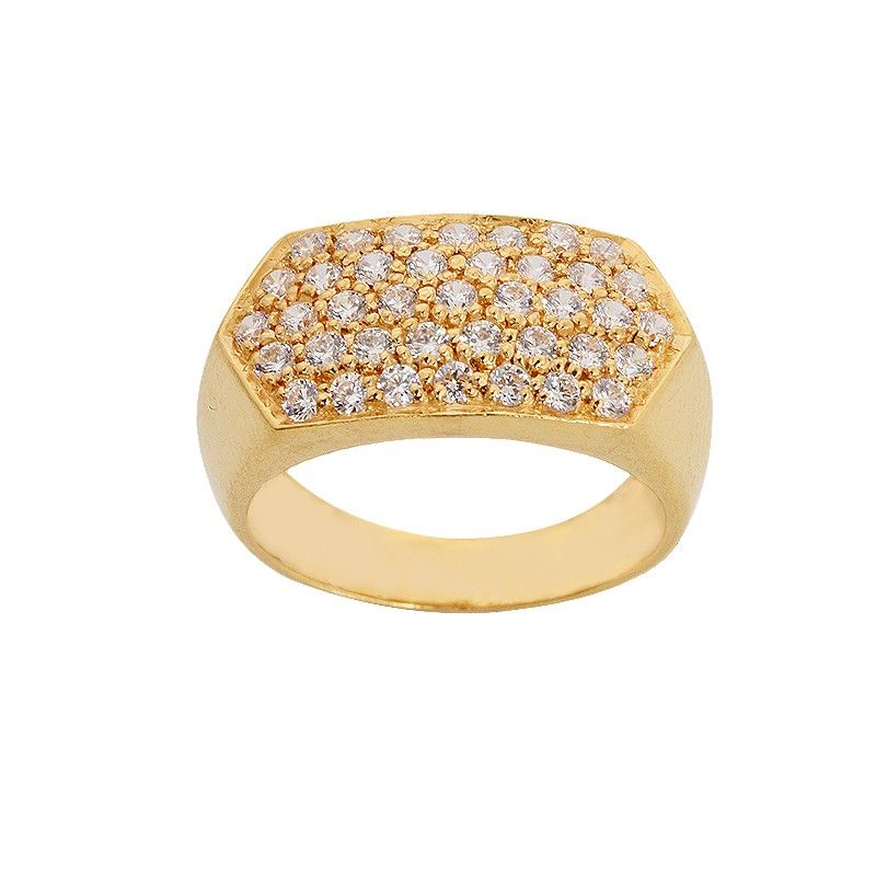 CZ 22KT Mens Gold Ring | زینت و جواهر | Pinterest | Gold rings ...