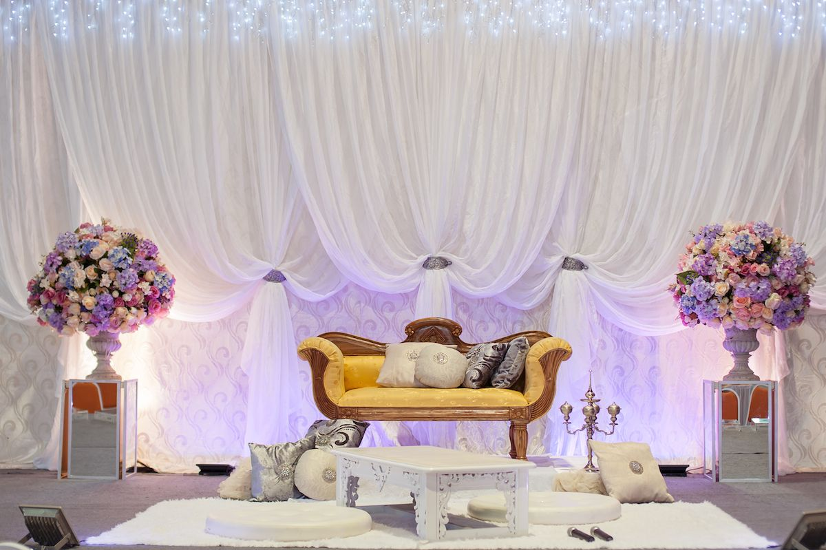wedding stage decoration pics%0A Pelamin with minimal colors  u     a very simple touch for a simple wedding
