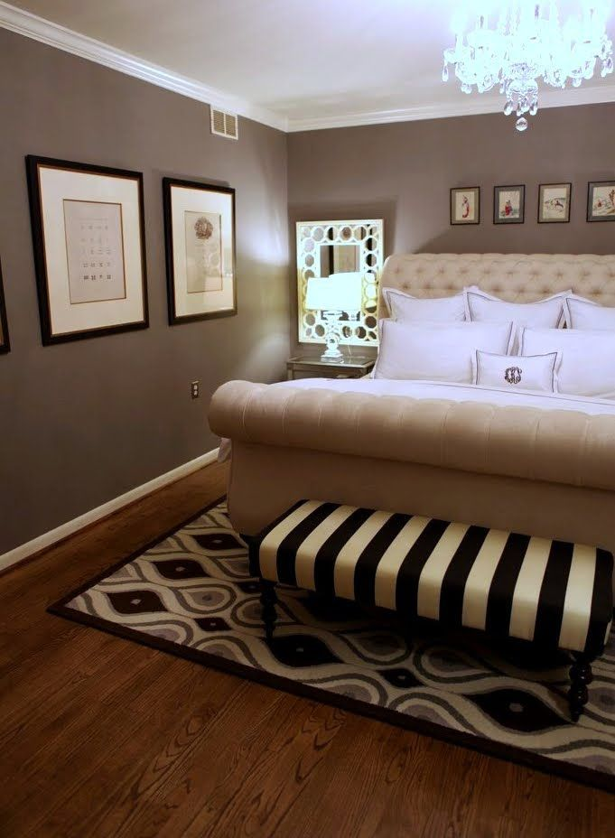 love the bed wall color is