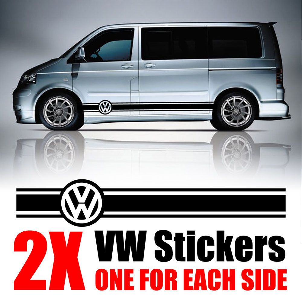 Vw t4 white vans cool stickers car decals van life t5