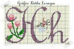 Hh Violet With Pink Flowers Cursive Upper Lowercase Alphabet