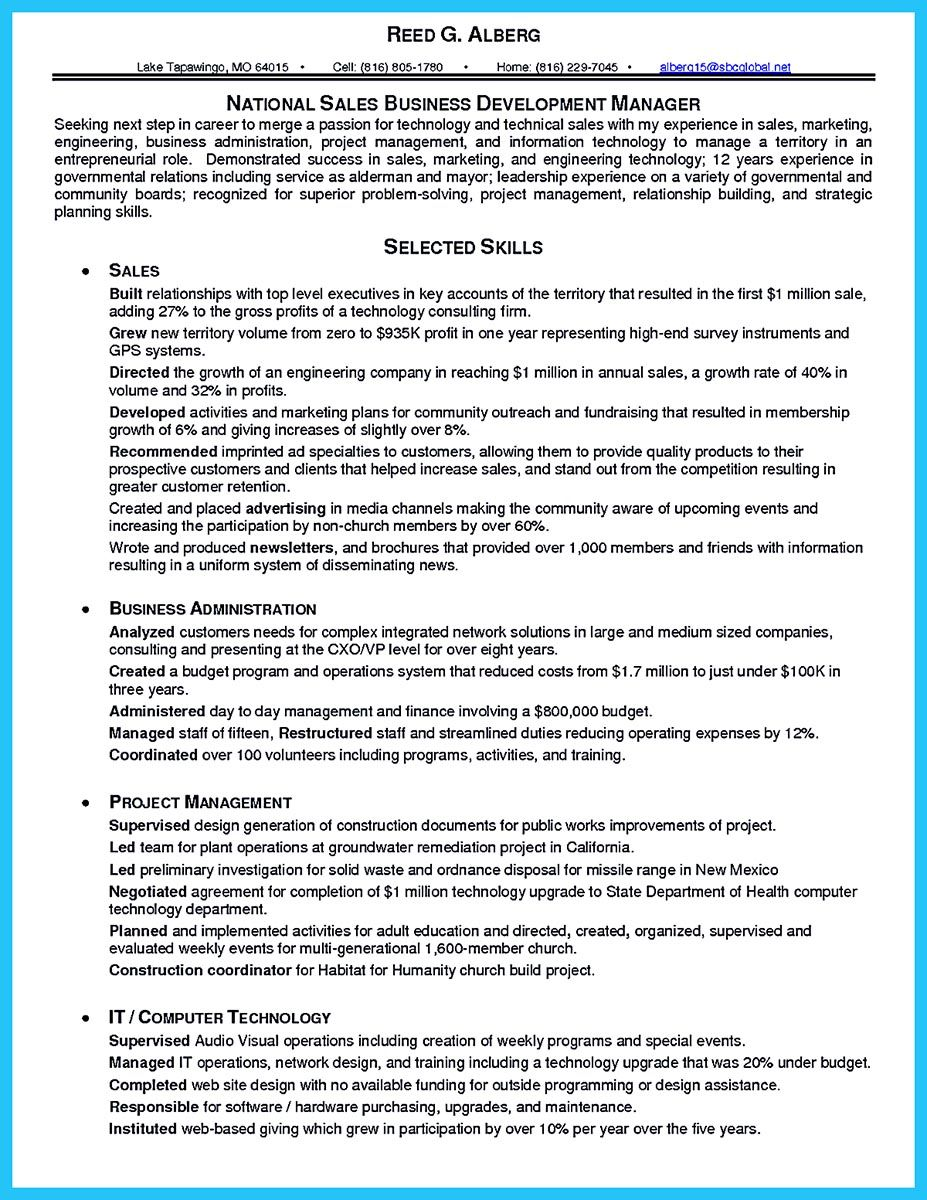 Business Development Manager Resume Your Resume Must Be Standout So That The Hiring Manager Will Be