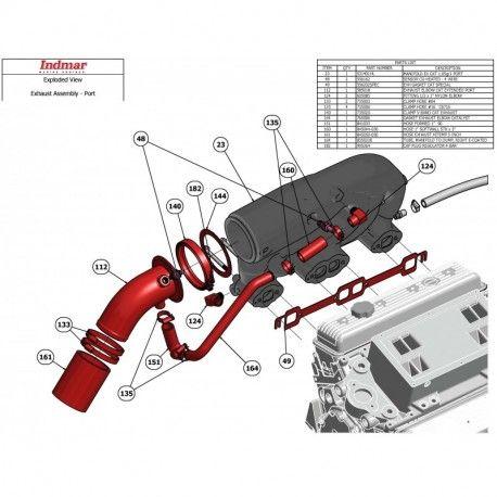 indmar exhaust fitting nylon elbow 1 2 npt x 1 barb indmar rh pinterest com Indmar Engine Parts indmar 350 engine diagram