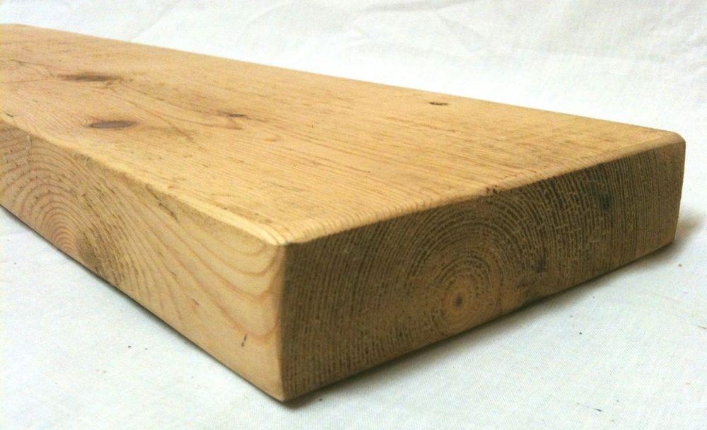 rustic floating wooden shelf 6 depth solid reclaimed pine wood rh pinterest com