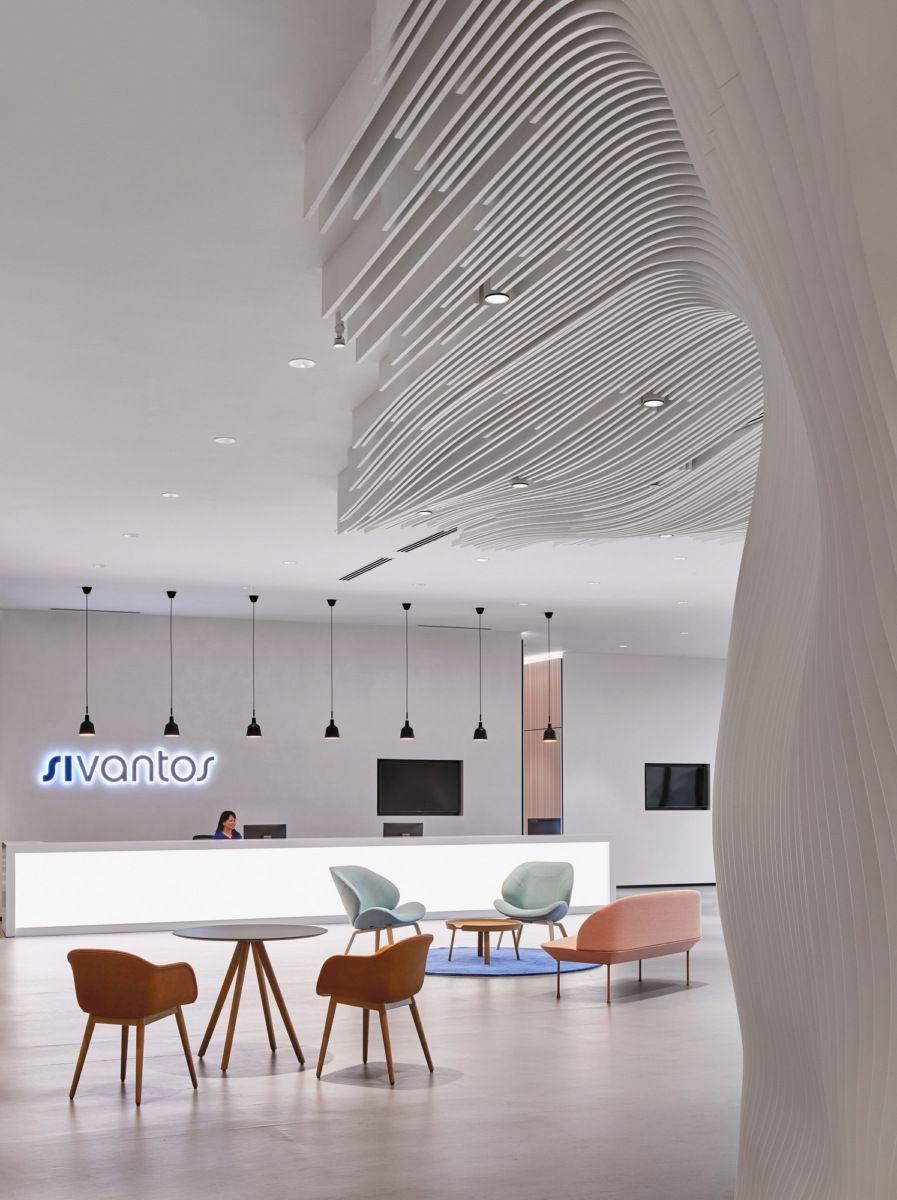 office tour sivantos headquarters singapore patterns interior rh pinterest com