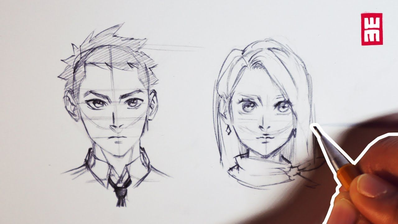 How to draw faces for beginners anime manga drawing