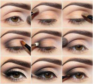 Tutorial trucco occhi marroni capelli biondi