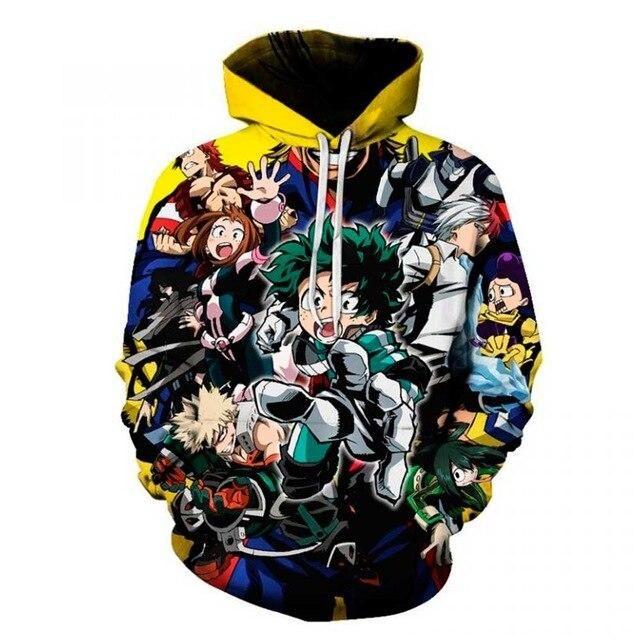 Photo of 3D Anime My Hero Academia Todoroki Shouto Midoriya Izuku Hoodies Sweatshirts Cartoon Role Play Mens Women Autumn Sportwear Coats – LW307 / XXL