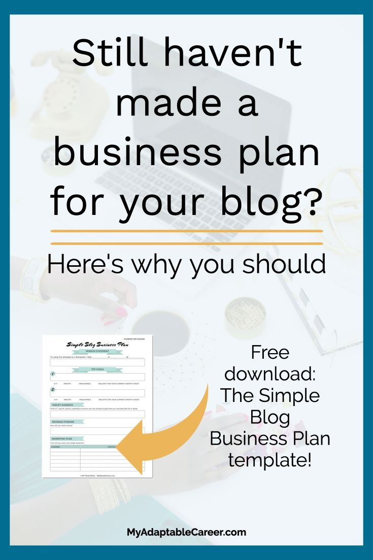 You need a blog business plan heres how to make one in less than still havent made a business plan for your blog based business download the easy template now accmission Images
