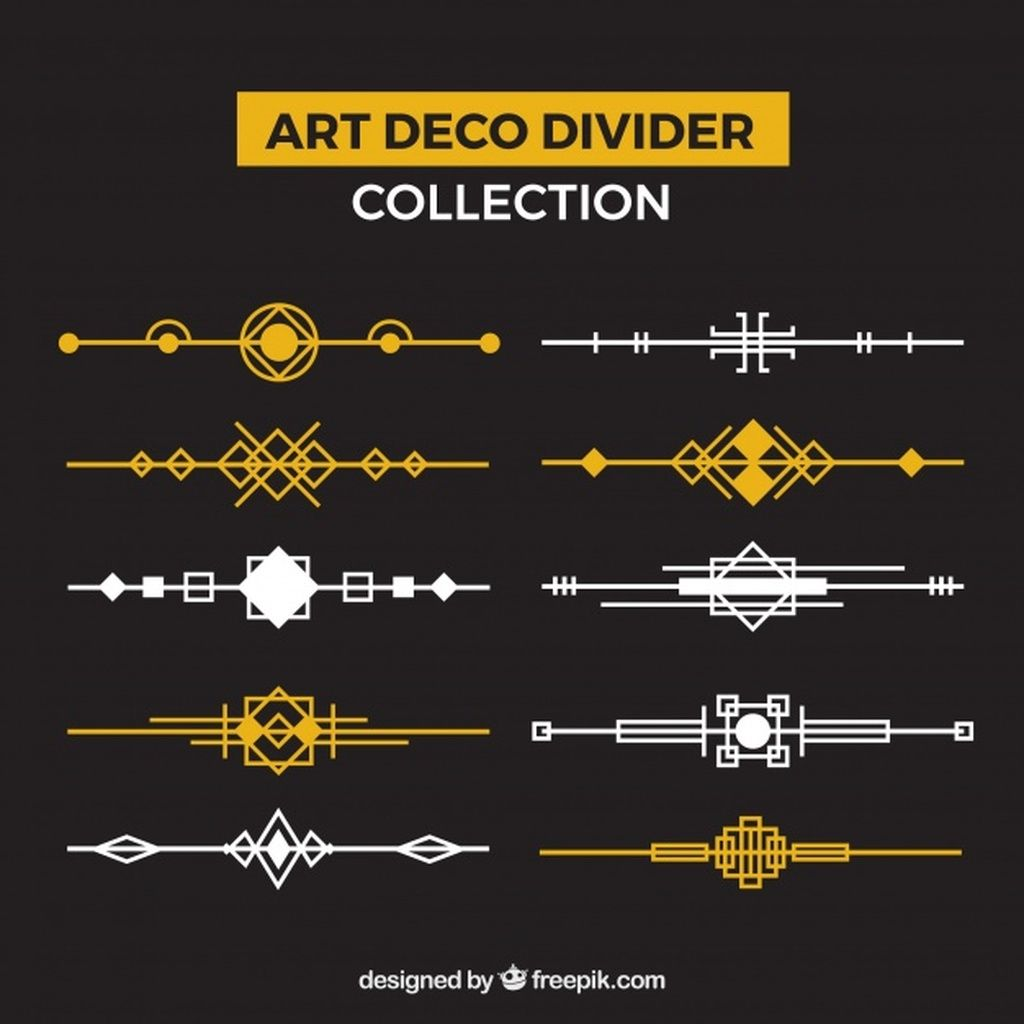 Dividers Collection In Art Deco Style Paid Ad Ad Collection Style Deco Dividers Art Deco Fashion Art Deco Page Decoration
