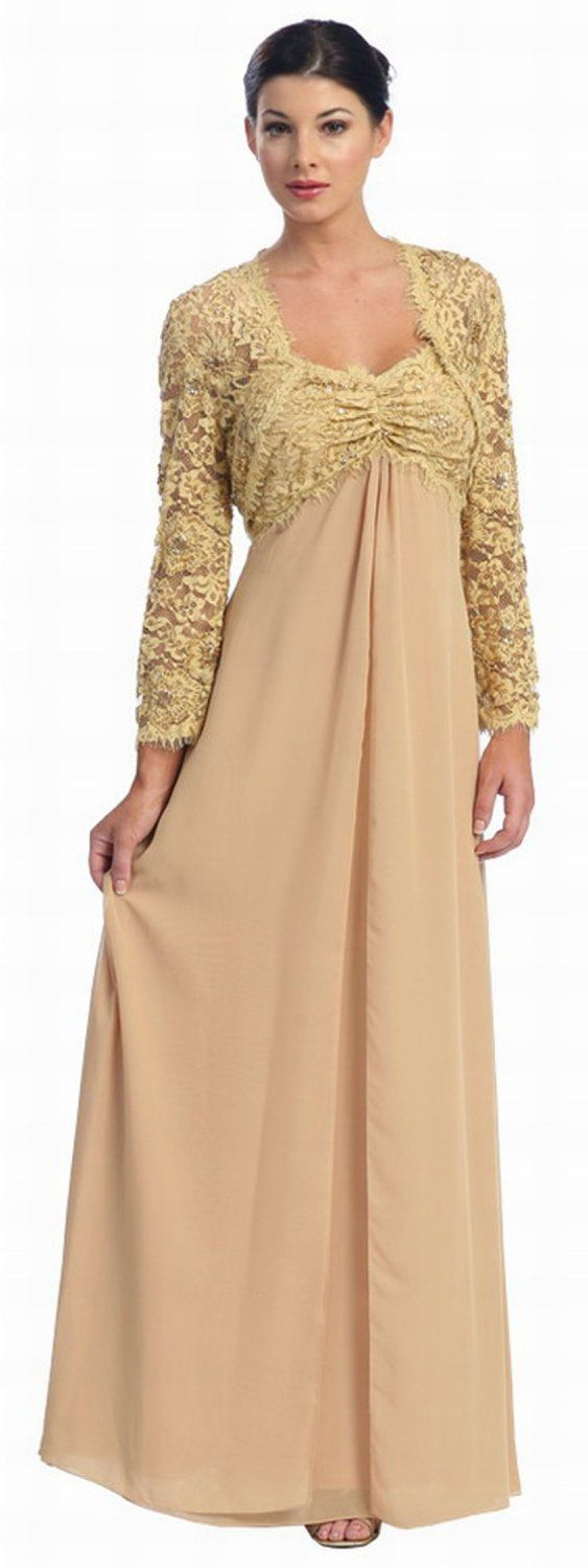 Long Gold Dress for Women Over 50 | Fashion for Women Over 50 ...
