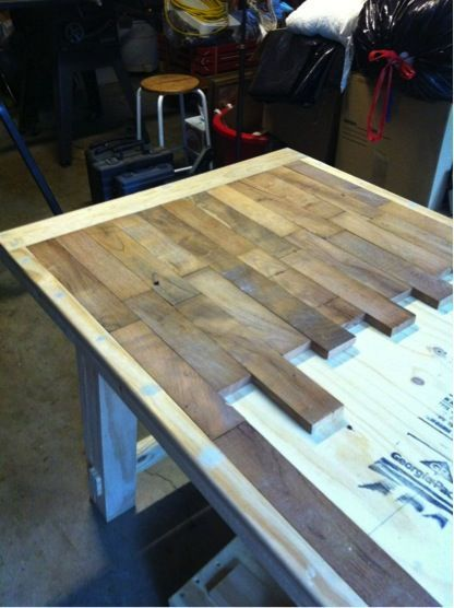 how to make a wood plank kitchen table diy home decor plank rh pinterest com