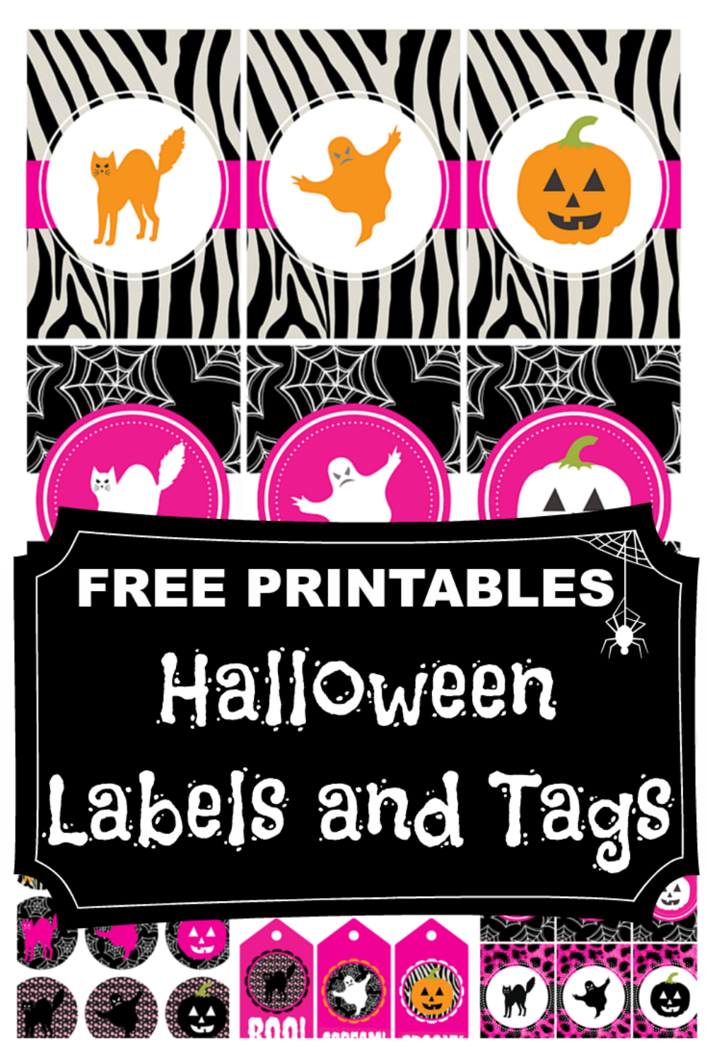 free printable halloween labels and tags diy crush link party rh pinterest com