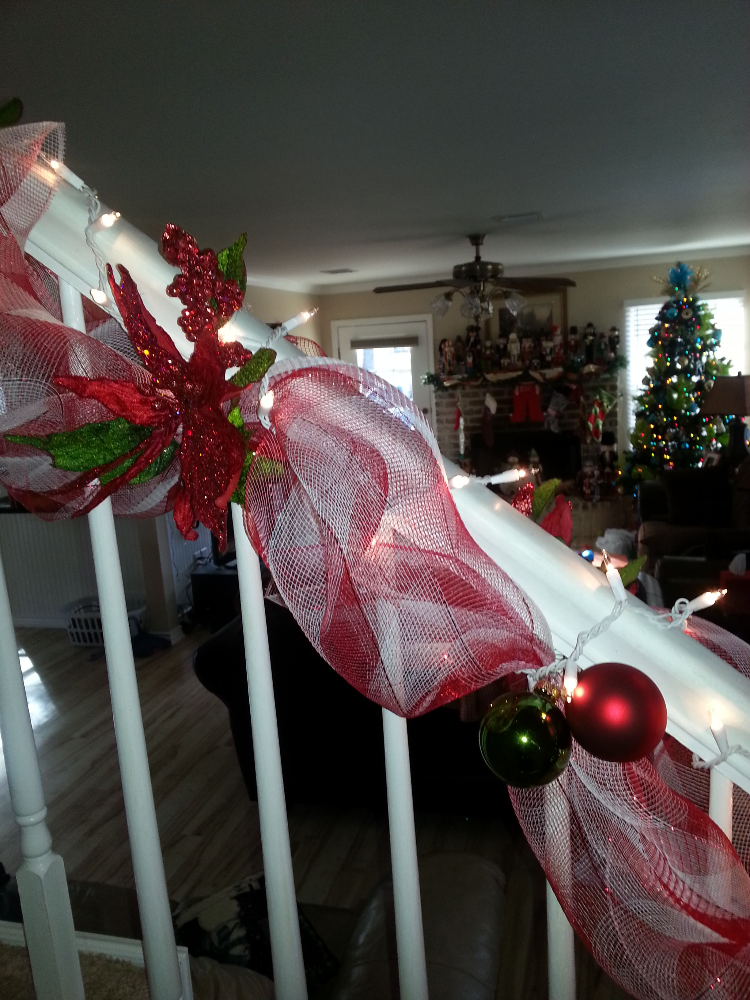 Candy Cane Staircase view 2 Christmas Pinterest