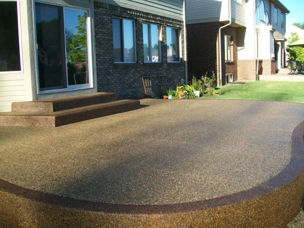 outdoor exposed aggregate concrete patio in 2019 outdoor patio rh pinterest com