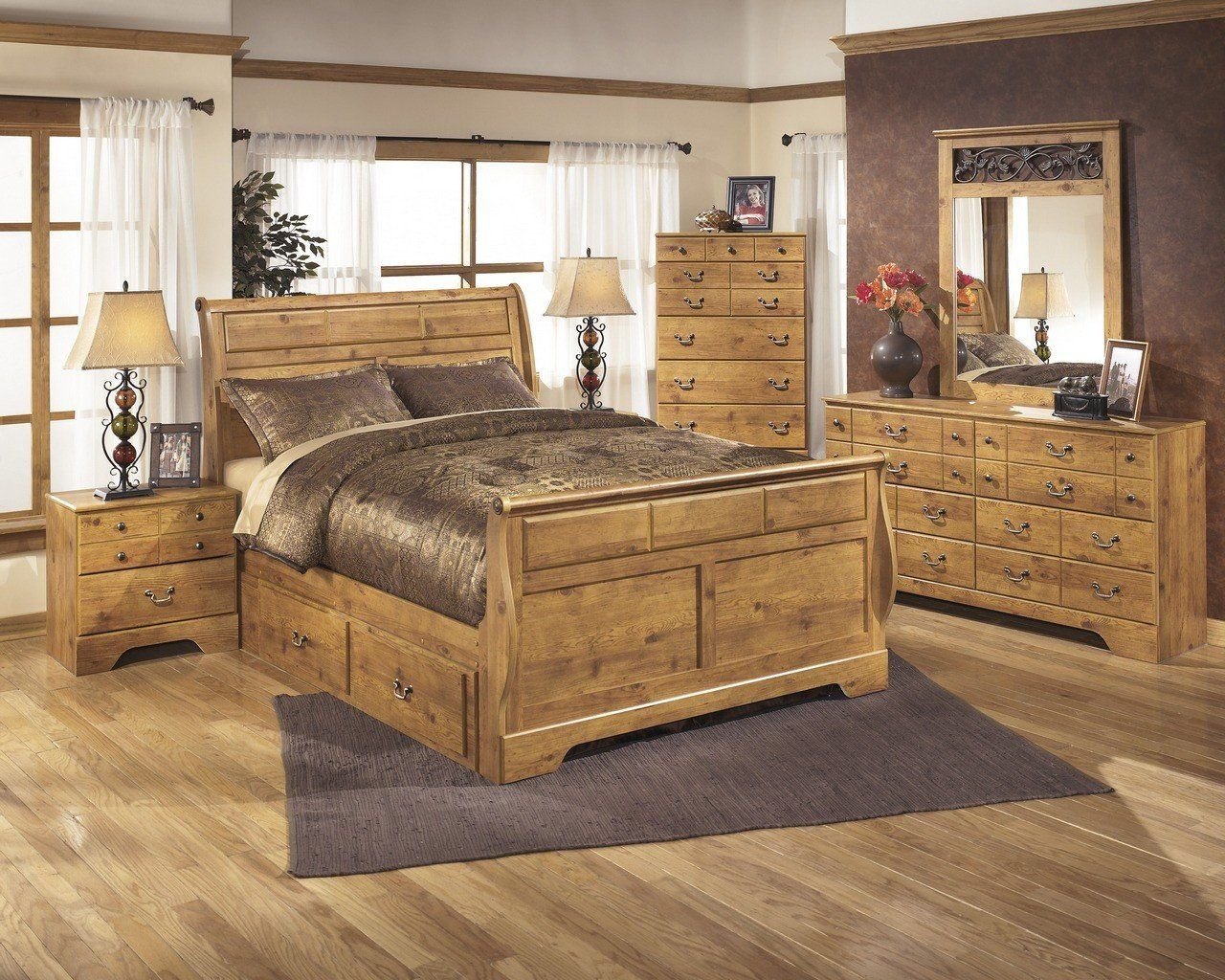 Natural Wood Bedroom Set Bedroom Set Eight Unclaimed Freight in