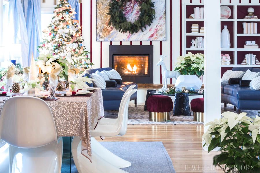 Jeweled Interiors Holiday Home Tour Burgundy cranberry