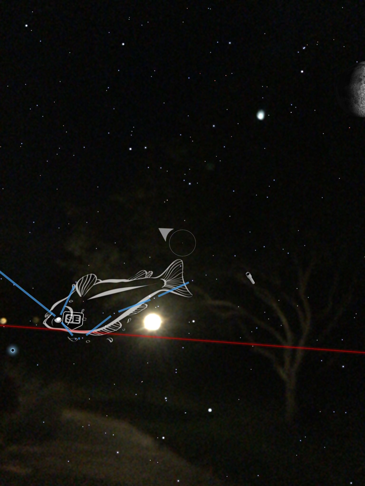 I just spotted 49 And in the sky with my SkyViewApp