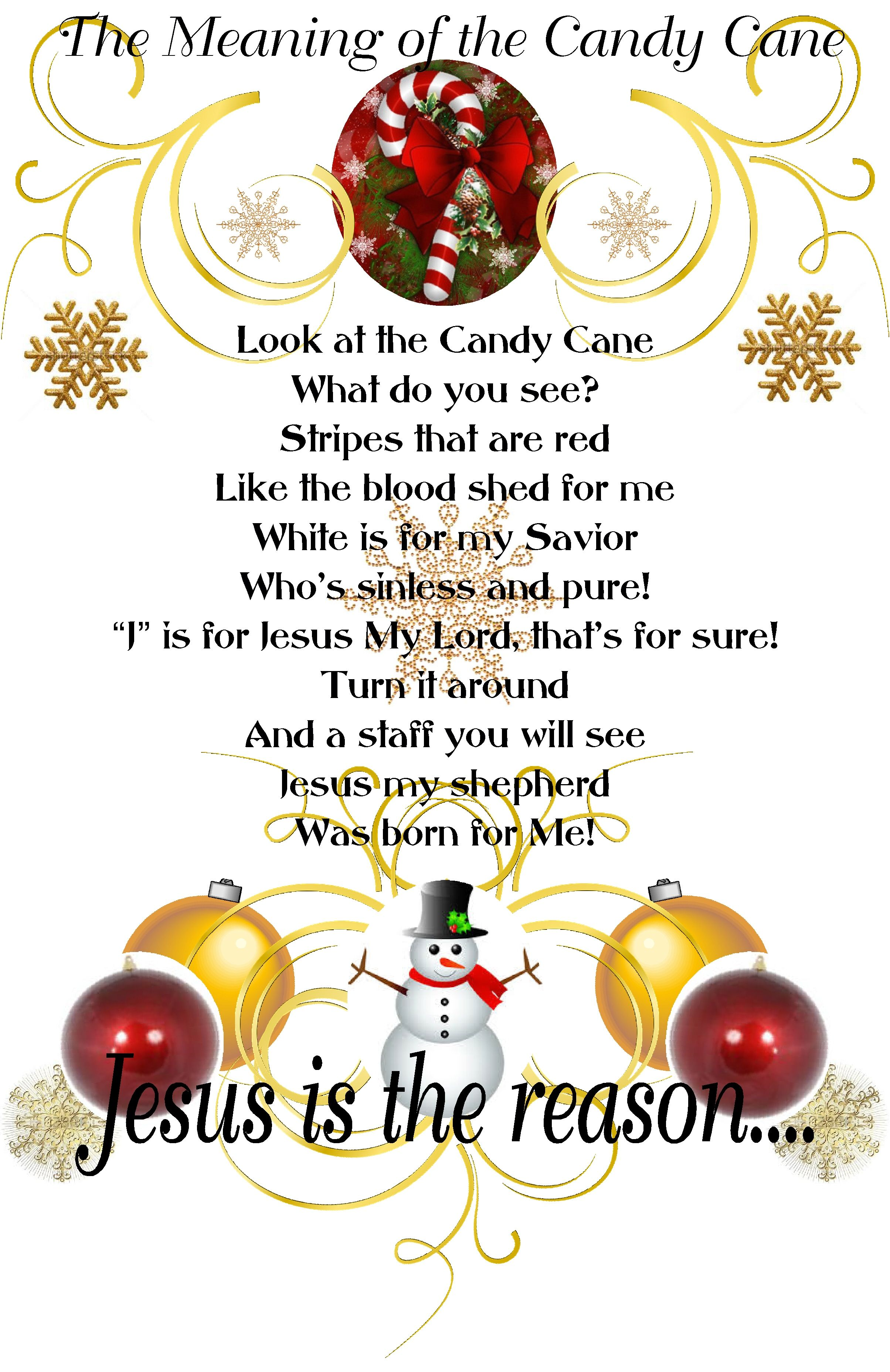 Meaning of the Candy Cane (With images) Christmas poems