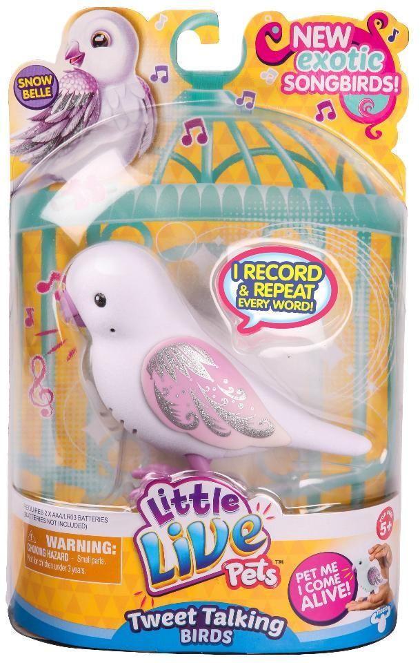 Little Live Pets Series 5 Bird Single Pack Snow Belle Little Live Pets Pet Bird Pets
