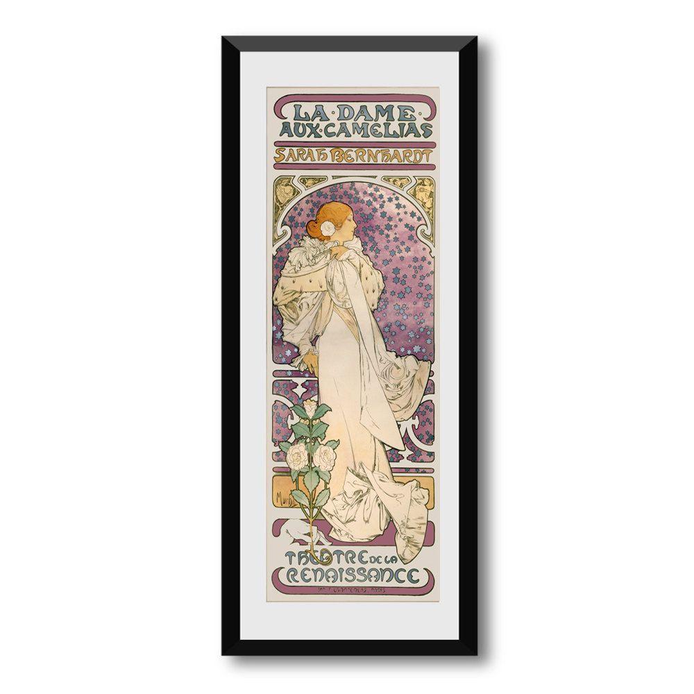 "SUMMER SALE Vintage -Art Noveau- Mucha - Sarah Bernhardt - Theatre - Advertising - Retro  - Wall Art - Wall Decor - Art Print - Size:10"" x 2 - pinned by pin4etsy.com"