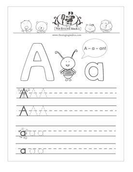 free printable letter a practice sheet for kids a combination of rh pinterest com