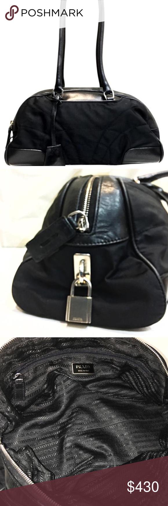397430e2f3cd Long handle Prada bowler shoulder tote satchel Famous iconic bowling bowler  bag by Prada. Well