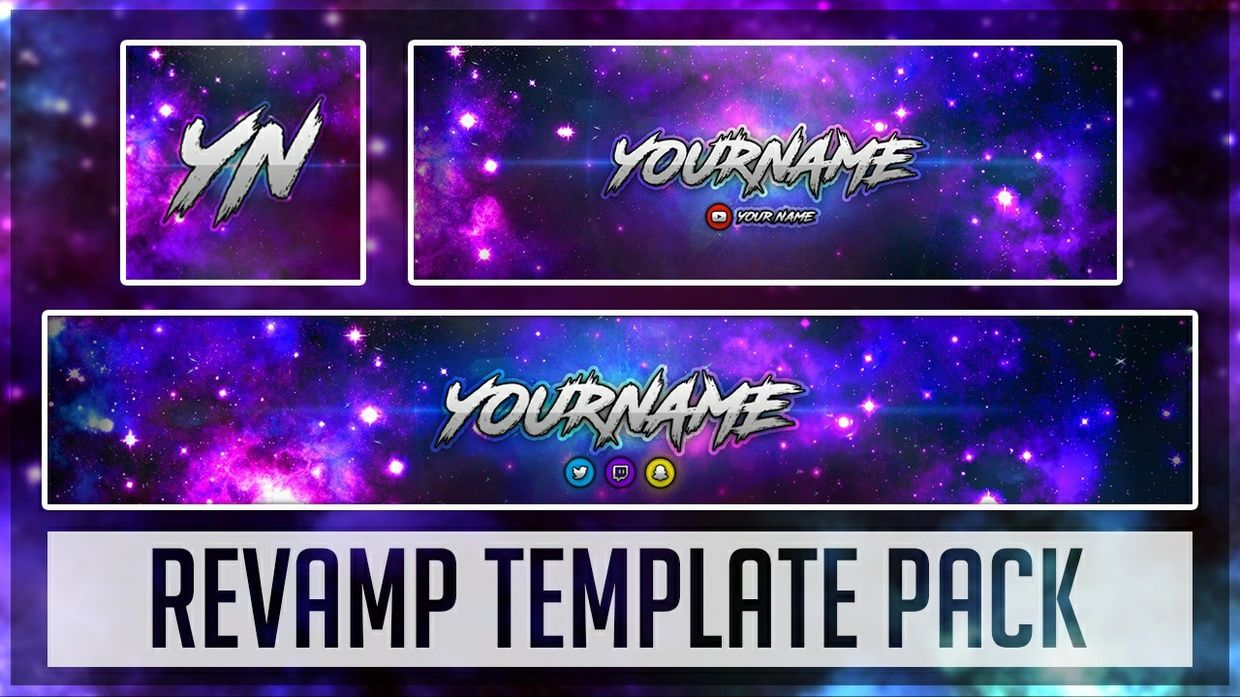 This Revamp Pack Contains A Youtube Banner Twittwer Header And Avatar It Has Lots Of Coustomisable Options Included So Youtube Banners Banner Twitter Header