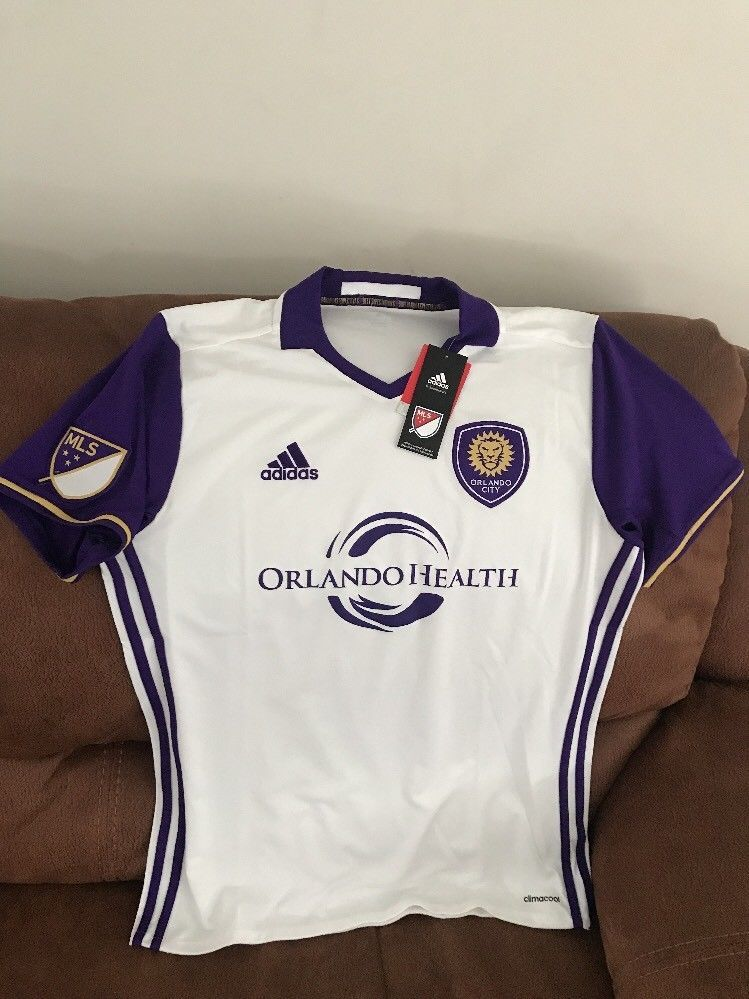 8ab5ba54d adidas orlando city Sc mls soccer jersey NEW With Tags size M mens | eBay