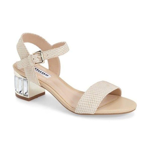 7478231c3 Dune London  Maddie  Crystal Block Heel Sandal