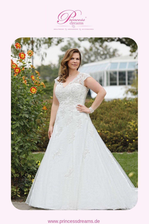 Brautkleid große Größe mit Spitze und Trägern  Das klassische