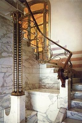 The Victor Horta House, Brussels, Belgium.