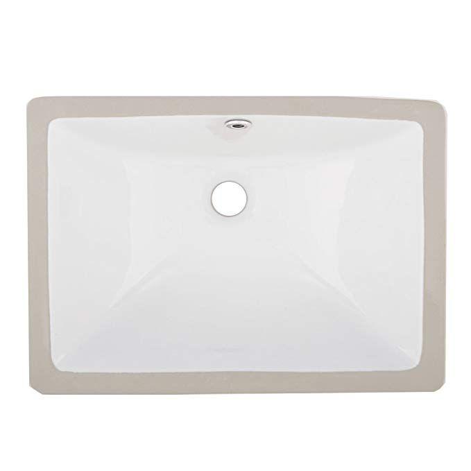 vapsint rectangular porcelain undermount white ceramic art basin rh pinterest com
