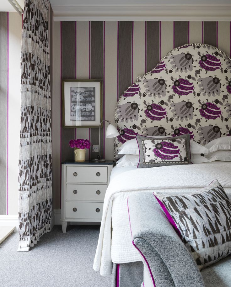 kit kempston for firmdale hotels grey and purple bedroom grey rh pinterest com