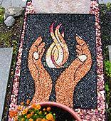 Grabgestaltung mit grabbild grab for Grabgestaltung mit steinen