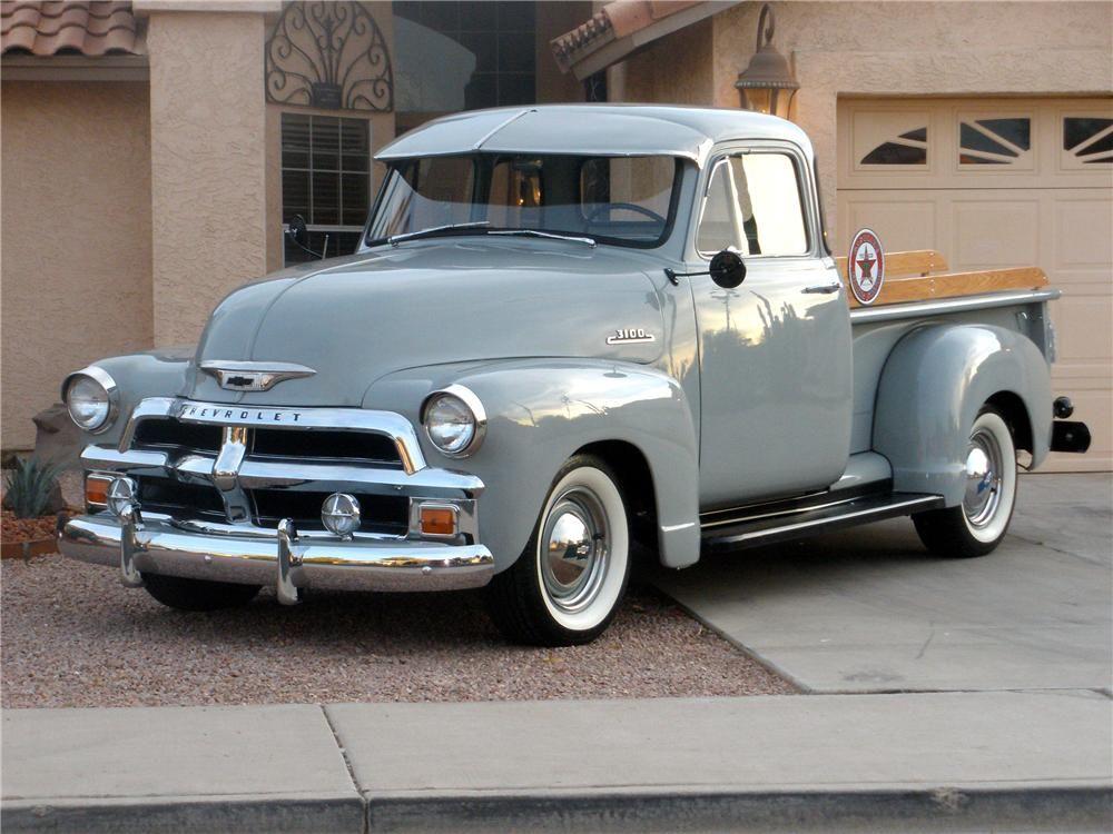 1954 Chevrolet 3100 5 Window Pickup Barrett Jackson Auction Company Classic Trucks Classic Cars Trucks Chevy Trucks