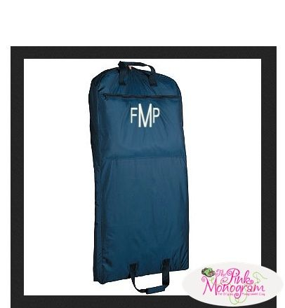 Navy Or Black Garment Bag At The Pink Monogram