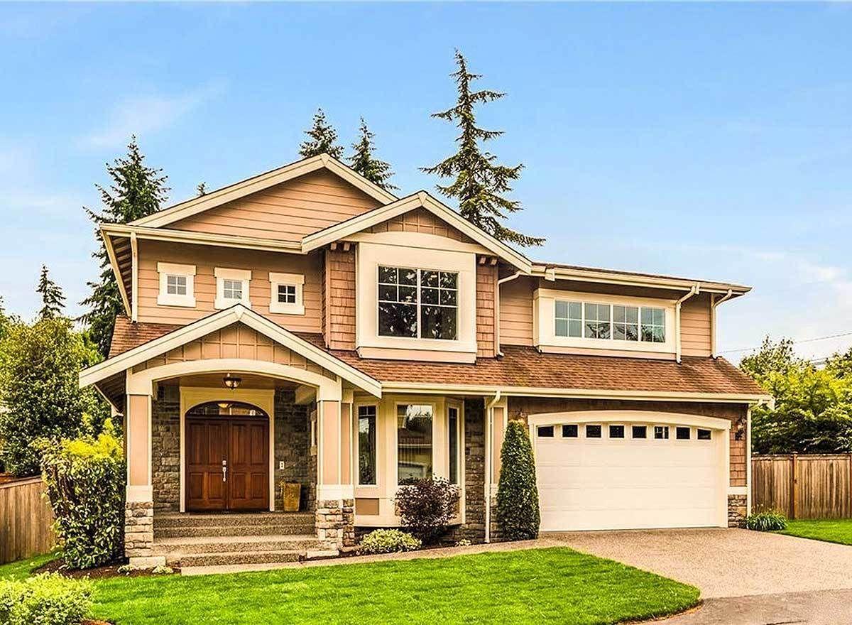 Stunning Craftsman Home Plan 23062JD