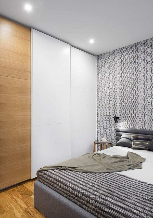 Elegant Sliding Doors Bedrooms With Fitted Wardrobe White Wood Recessed Ceiling  Lights | Http://room Decorating Ideas.com | Pinterest
