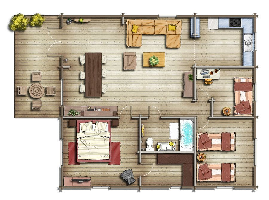 House Map Architecture Plan Living Room Floor