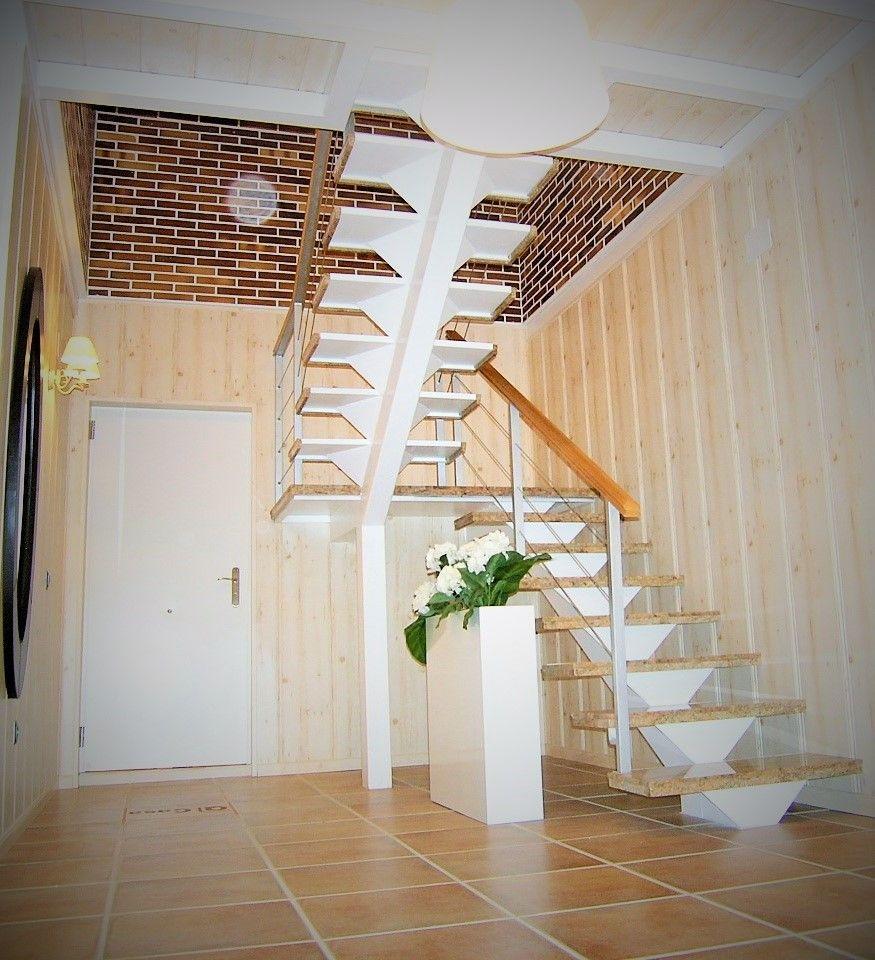 Escalera en el modelo covadonga - Escaleras de acero ...