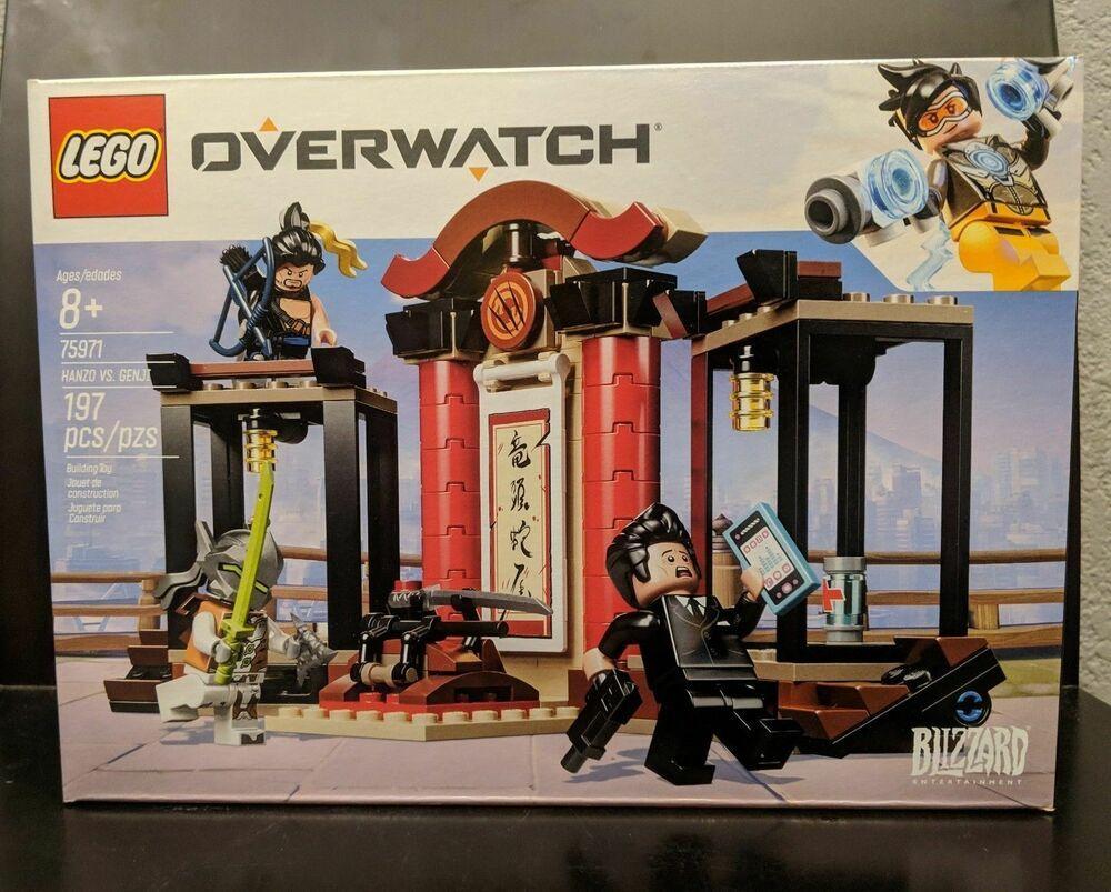 New 2019 LEGO Overwatch Hanzo vs 197 Piece Genji 75971 Building Kit